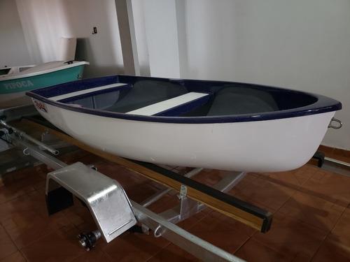 Imagem 1 de 14 de Barco Bote Fibra Apoio 2.30 Artsol 40 Anos Direto Fabrica