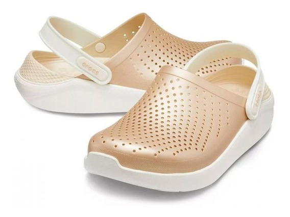 Crocs Literide Metallic Clog - Champagne / Oyster
