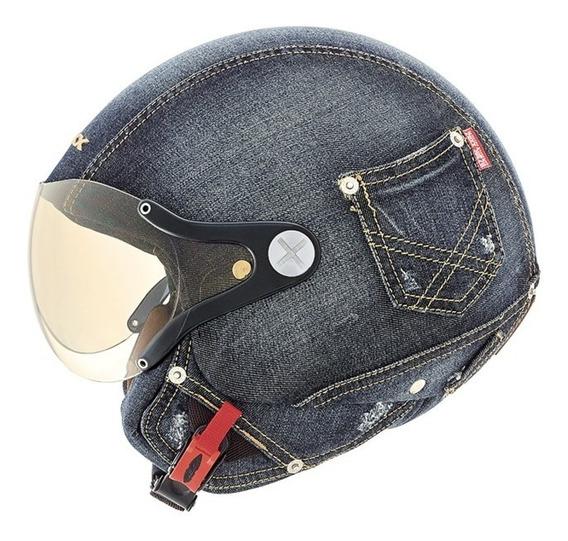 Casco Abierto Nexx Sx.60 Denim Jeans Importado