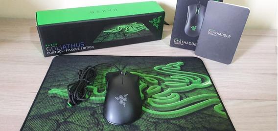 Mouse Gamer Razer Deathadder Essential+mousepad Goliathus M