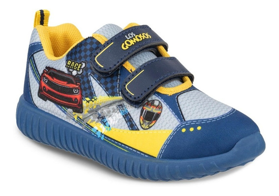 Zapato Los Gomosos Brutus Azul-amarillo Para Niño