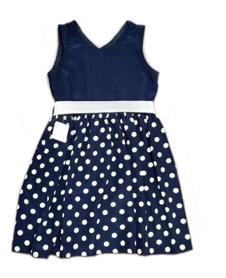 Vestido Nena De Seda Lunares - T12 / T14