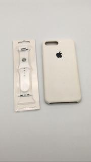 Combo Silicone Case E Pulseira Apple Watch