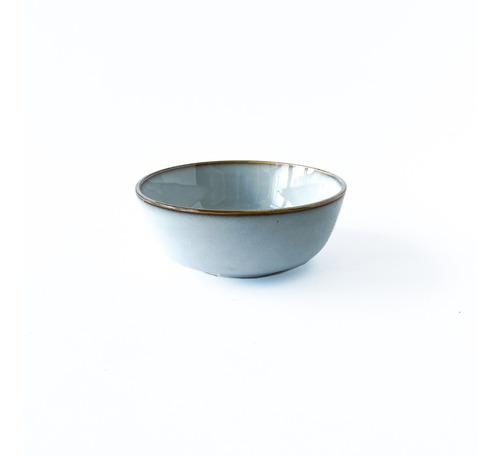 Bowl Compotera Cerámica Gris Con Borde Noi Home Bazar