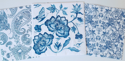 Servilletas Decoupage Set Azul  Laura Craft