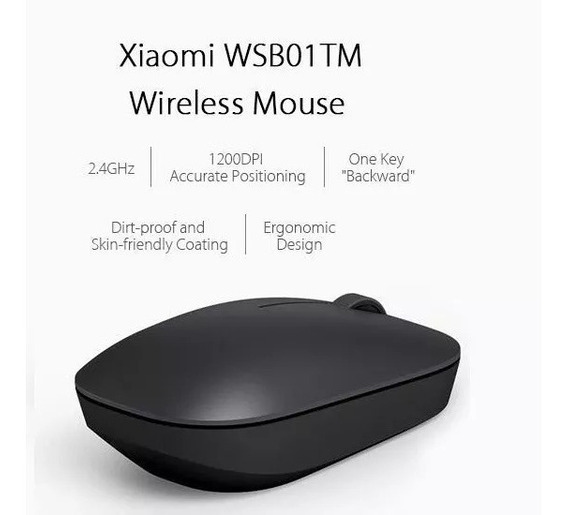Mouse Xiaomi Optico Wireless 2.4g 1200dpi Preto