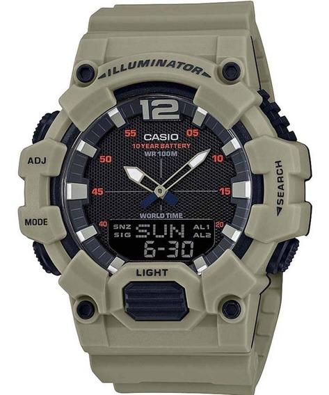 Relógio Casio Masculino Iluminator Hdc-700 3a3vdf Caqui