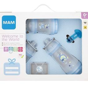 Kit De Mamadeiras Mam 5 Peças Original Livre De Bpa Azul