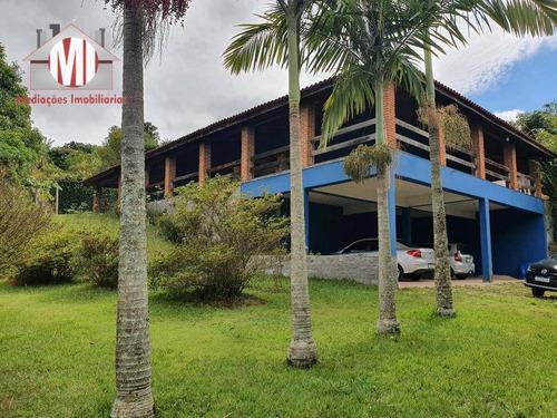 Linda Chácara Com 3 Dormitórios, Piscina, Pomar, Campinho, Excelente Localização, À Venda, 2000 M² Por R$ 530.000 - Zona Rural - Pinhalzinho/sp - Ch0805