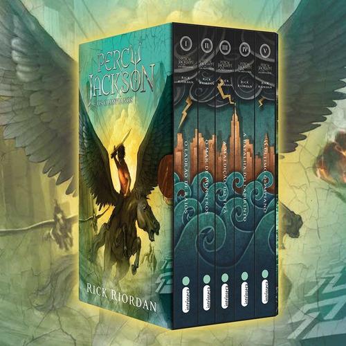 Imagem 1 de 6 de Box Livro Percy Jackson E Os Olimpianos (5 Livros) Novo