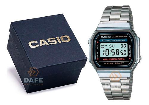 Relógio Casio A-168 Vintage Retrô Original C/ Caixa E Nf
