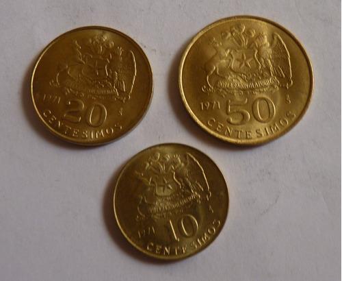Moneda De Chile  10-20 Y 50 Centésimos ( N C )