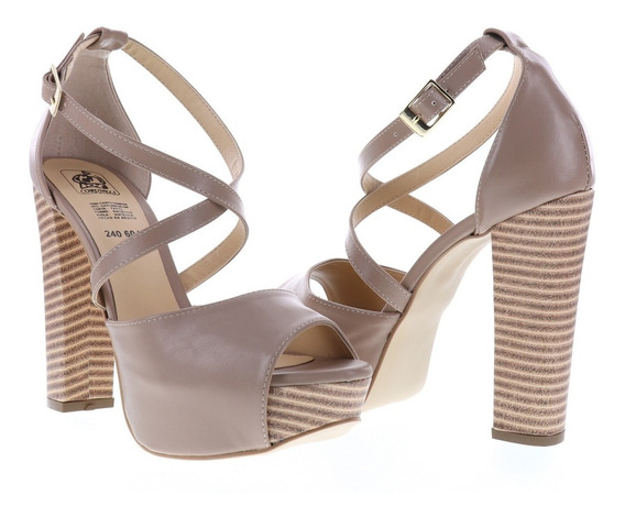 Sandalia Alta Para Mujer Estilo Peep Toe Erez