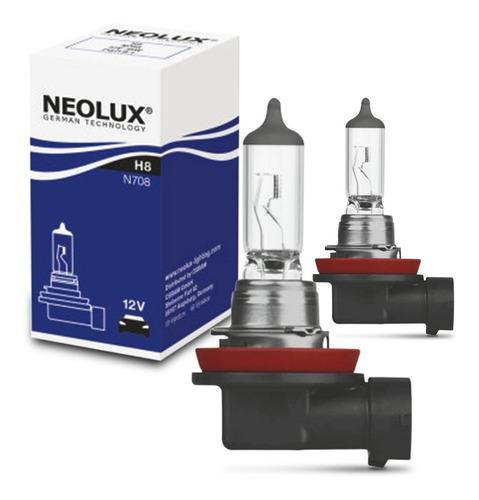 Par Lâmpada Automotiva Neolux Standard H8 3200k 35w Halógena