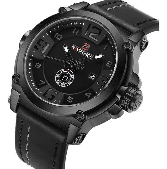 Relógio Masculino Esportivo Militar De Luxo E Pulseira Couro