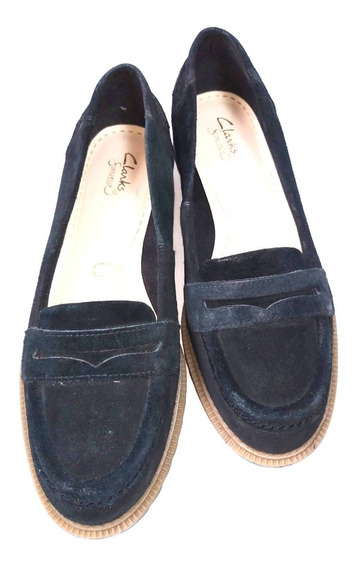 Clarks Zapatos 100% Cuero Estilo Mocasín Impecable