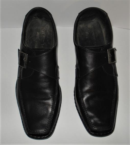 Zapatos Mocasin Cuero - J R - Nro. 41 - Jr