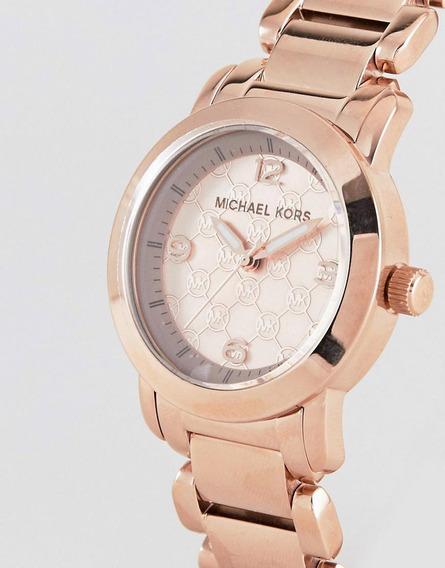 Relógio Michael Kors Mk3159 Aço Rosado Original Com Caixa Mk