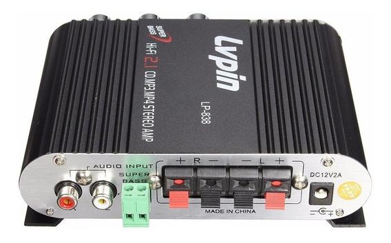 Amplificador Lepy Lp838 Frequên. 20hz 2 Canais 12 V Original