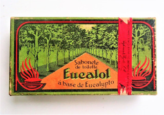 Antiga Embalagem Sabontes - Estampas - Eucalol