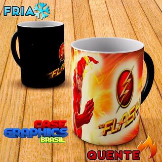 Caneca Mágica The Flash Hq Dc Comics Heróis Especial Barry