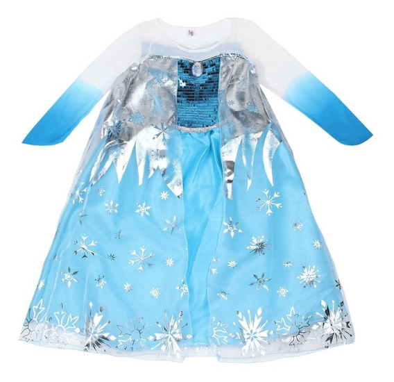 3-8y Kid Girls Dresses Freeze Dress Costume Princess Anna Ve