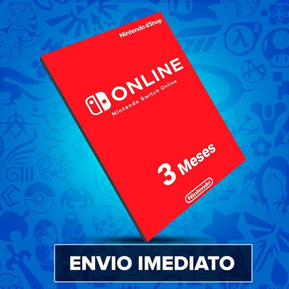 Cartão Nintendo Switch Online 3 Meses - Envio Imediato