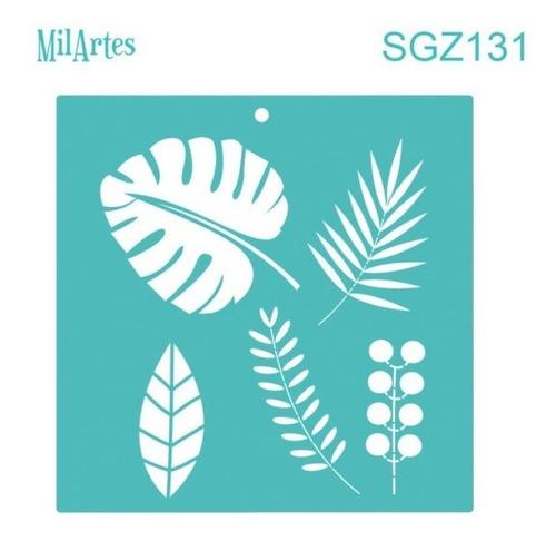 Mil Artes - Stencil Hojas 30 X 30 - Sgz131