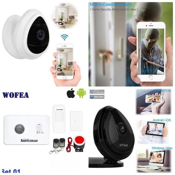 Combo Seguridad: Alarma Gsm Con 2 Sensores + Una Camara Ip.