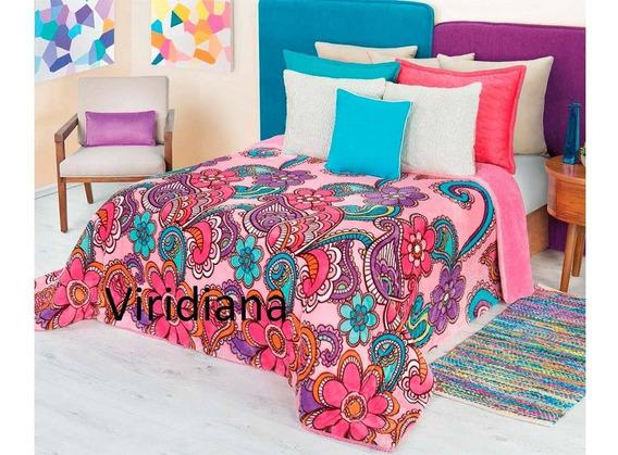 Cobertor Borrega Viridiana Matrimonial Real Textil