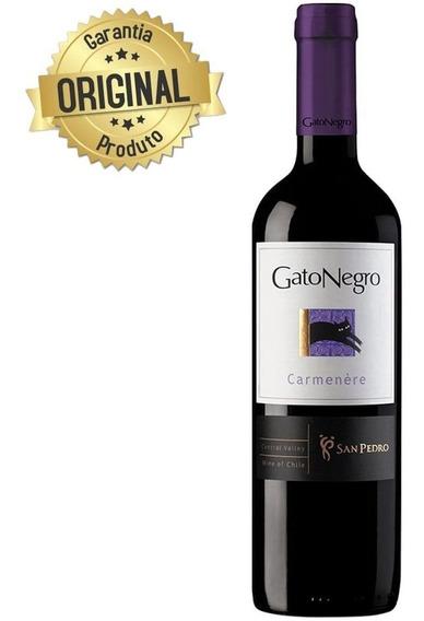 Vinho Chileno Tinto Seco Carmenere 750ml - Gato Negro