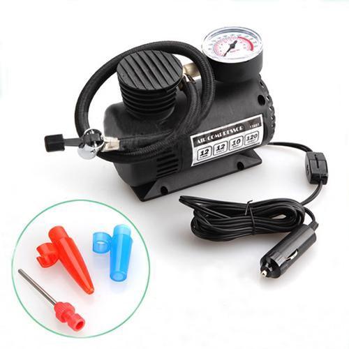Imagem 1 de 6 de  Mini Compressor De Ar Multiuso Automotivo 12v 300psi
