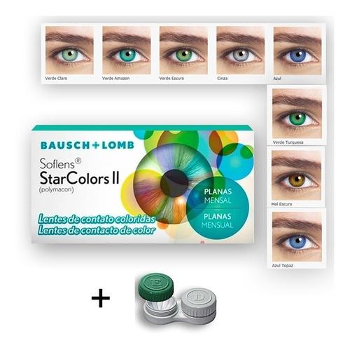 Lente Colorida Star Sem Grau + Barata 8 Cores