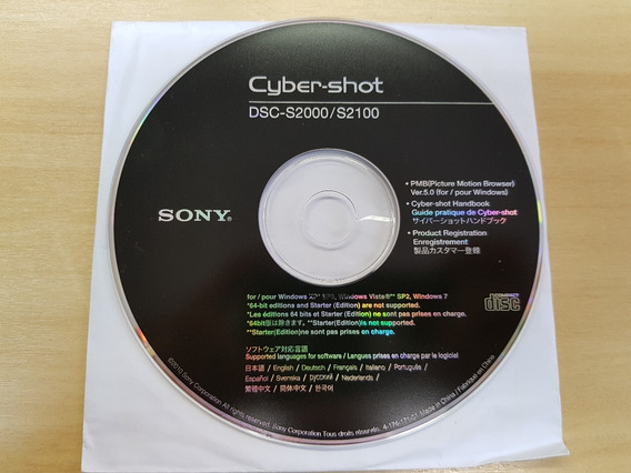 Manual Camera Digital Sony Cyber Shot Dsc-s2000/s2100cd Rom.