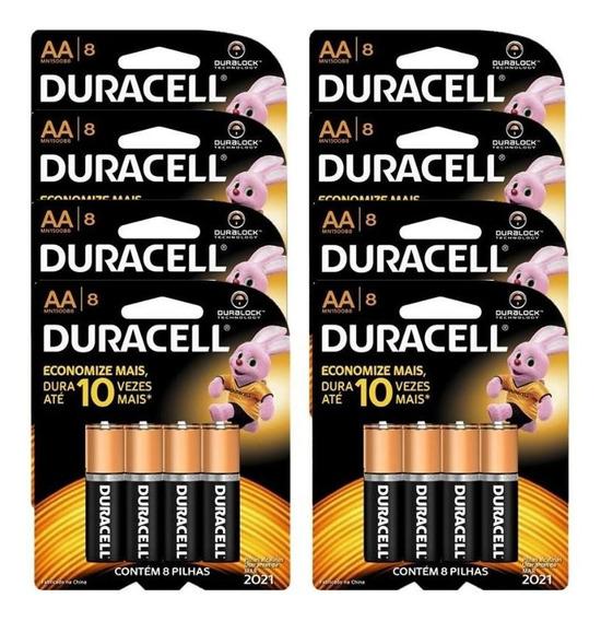 Duracell Duralock Pilha Alcalina Aa Com 64 Unidades