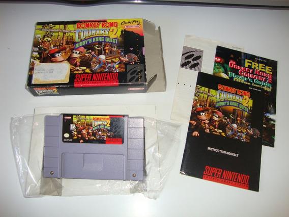 Donkey Kong Country 2 Americano Completo Para Super Nintendo