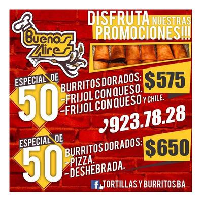 Burritos Cocidos Y Crudos Para Cualquier Evento.
