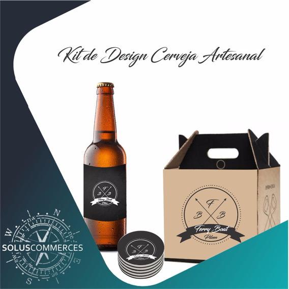 Criação Arte Cerveja Artesanal Caixa + Rotulo + Bolacha Copo