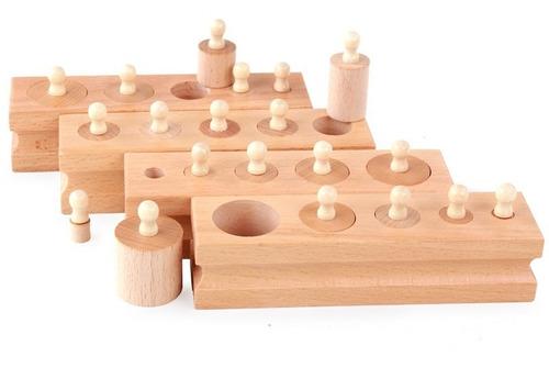 Cilindros Montessori Tamaños Y Volumen