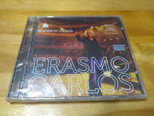 50 Años De Estrada - Erasmo Carlos - Cd / Dvd - Nuevo