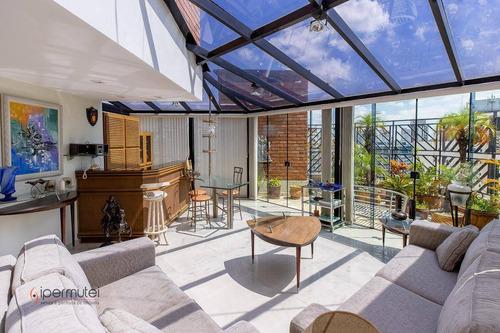 Imagem 1 de 30 de Magnífica Cobertura Com 4 Dormitórios E 3 Suítes À Venda, 410 M² - Moema - São Paulo/sp - Co0028