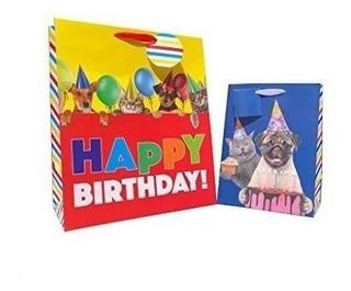 Cumpleaños Cachorros Y Gatitos Pequeños Bolsas De Regalo