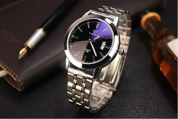 Relógio Masculino Yazole Em Aço Inoxidável