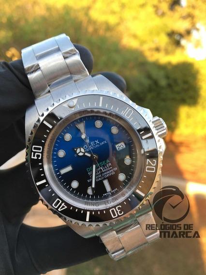 Relógio Rolex Preto Deepsea Degrade Automatico Vidro Safira