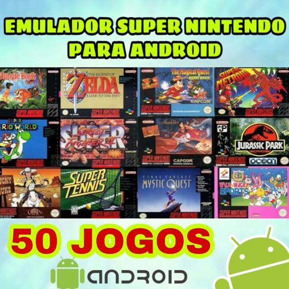 Emulador Super Nintendo Para Android Com 50 Jogos