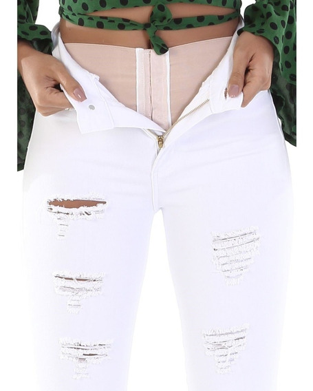 Calça Jeans Feminina Cintura Alta Sawary Super Lipo Original