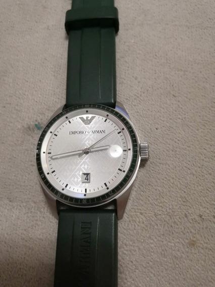 Relógio Armani (caixa Branca + Pulseira Verde)