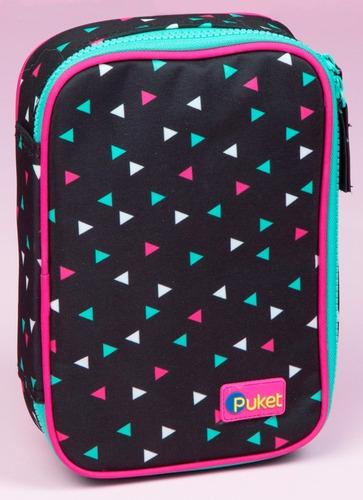 Estojo Grande Triangulos - Puket - R$ 109,90 em Mercado Livre