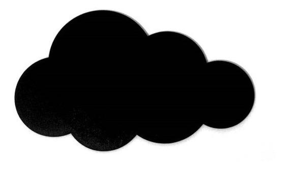 Placa Lousa Memo Blackboard Nuvem 30cm