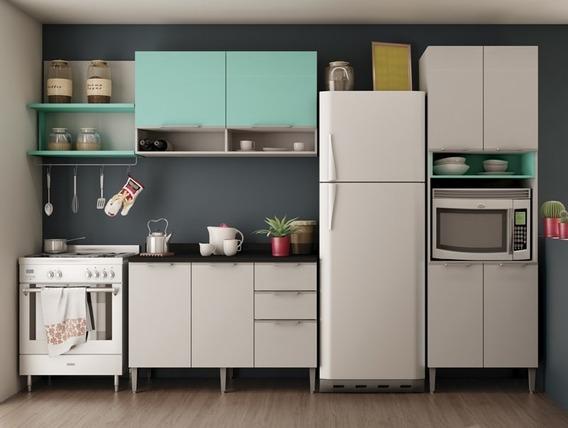Cozinha Composição Essence 04 Branco Acqua/preto - Aroma